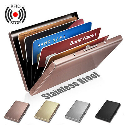 Anti-scan ID Credit Card Protection RFID Blocking Wallet Stainless Steel Wallet