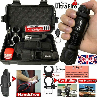 Ultrafire Tactical Military Zoomable 90000LM T6 LED Flashlight Torch Headlamp