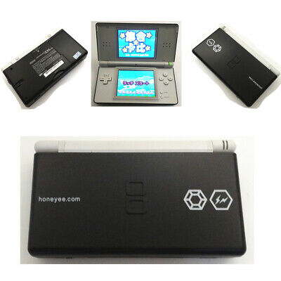 Black HONE YEE Refurbished Nintendo DS Lite Game Console NDSL Video Game System
