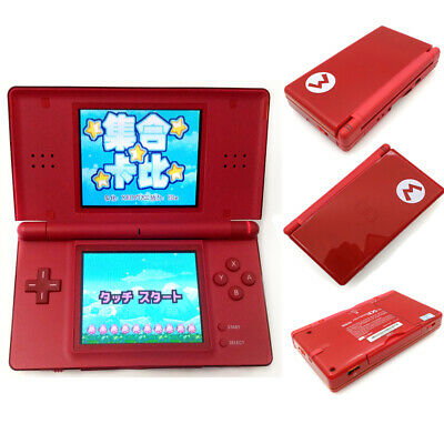 Red Mario Refurbished Nintendo DS Lite NDSL Video Game Console With Charger
