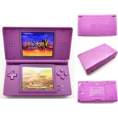 Purple Refurbished Nintendo DS Lite System NDSL Video Game Console With Charger