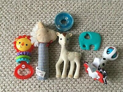Baby Toys Bulk Mixed Lot Sophie The Giraffe, Alimrose Designs Horse Rattle