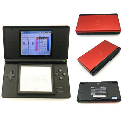 Red and Black Refurbished Nintendo DS Lite NDSL Video Game Console With Charger