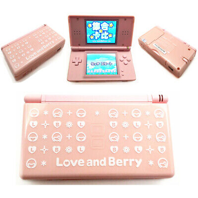 Pink LOVE&Berry Refurbished Nintendo DS Lite Game Console NDSL Video Game System