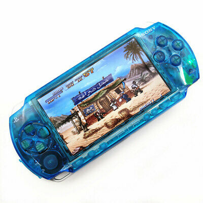Clear Blue Refurbished Sony PSP 1000 Handheld System PSP1000 Video Game Console