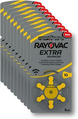 Rayovac R-extra-10 avancée Piles auditives (type: 10, 60-pack) 60er Pack