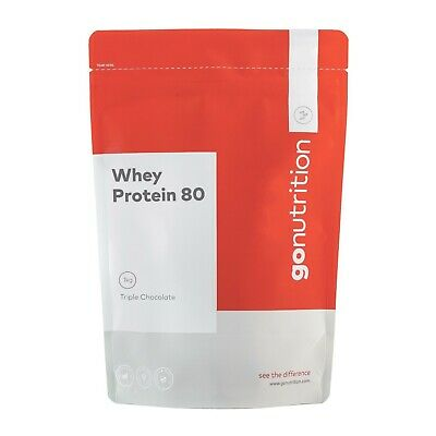 Go Nutrition Whey Protein 80 Powder 1kg - 5kg Pure Lean Muscle Building Shake