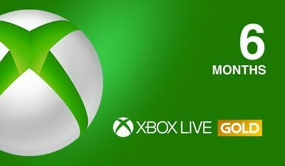 Xbox Live GOLD Subscription Card 6 Months GLOBAL XBOX LIVE / INSTANT DELIVERY