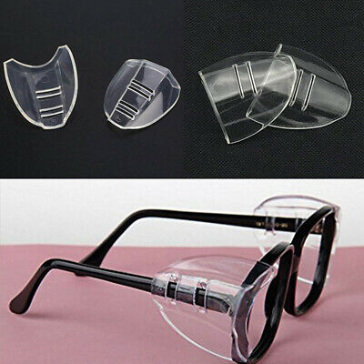 1 Pair Universal Glasses Clear Flexible Safety Goggles Side Shields U