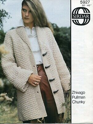 "Sirdar 5927 Lady Jacket Chunky 32-40"" Vintage Knitting Pattern"