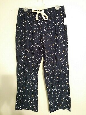 Love By Gap Blue Stars Flannel Pajama Lounge Pants Size Medium
