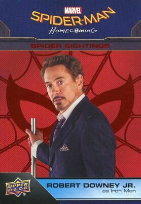 Spiderman Homecoming Red Foil [199] Base Card #98 Iron Man