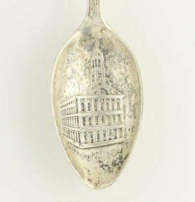 Vintage Boston Massachusetts Souvenir Spoon - Sterling Silver US Travel Keepsake