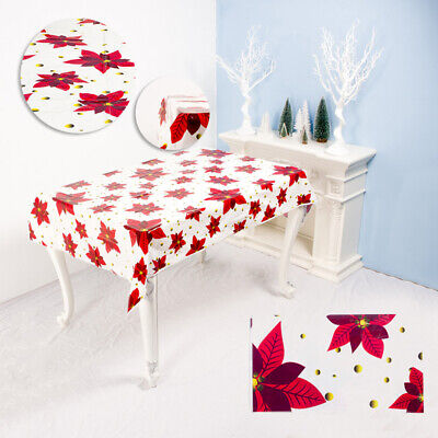 HB- Sweet Tablecloth Merry Christmas Waterproof Dinning Table Cover Cloth Decor