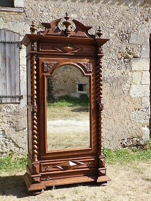 Hand Carved Louis XIII style Single door Armoire C1870(HS94)