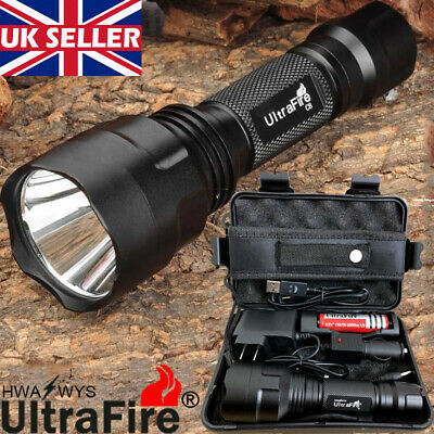 Tactical Military 150000LM T6 LED Flashlight 18650 Torches Work Light Headlamp