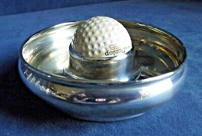 OLD ~ SILVER Plated  ~ 'Hole in One' ~ GOLFING Ashtray / DISH ~ c1930