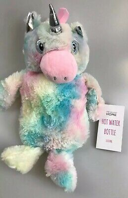 NWT Primark 1 Litre Hot Water Bottle With Plush Cuddly Removable Unicorn Cover