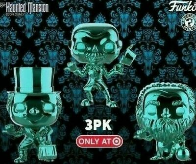 Funko Pop Haunted Mansion - CHROME HITCHHIKING GHOSTS - Target Exclusive