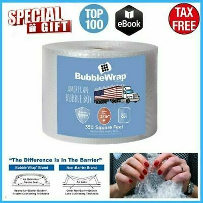 """3/16"""" Bubble Wrap Padding Roll 350'x 12"""" Wide Perf 12"""" 350FT FREE SHIPPING USA"""