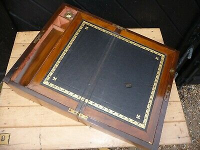 Antique Writing slope with Inkwell ..Needs light refurbishment .Good inner