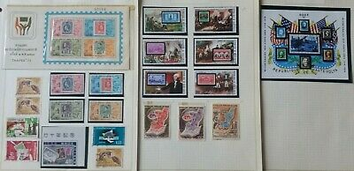 Lot of Worldwide Stamps on Stamps Used/MNH/MH----
