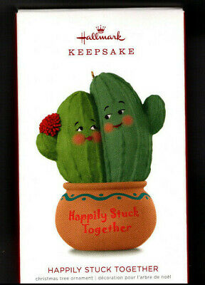 Happily Stuck Together 2018 Hallmark Keepsake Ornament Cactus Couple