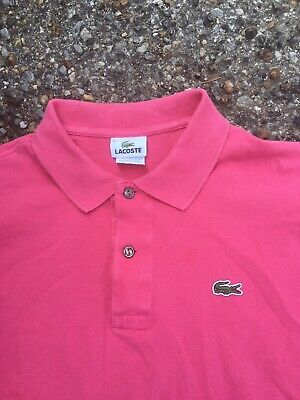 Lacoste Polo Golf Shirt Mens Size Large Pink 6 Tennis Green Gator Logo