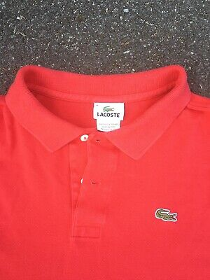 Lacoste Polo Golf Shirt Mens Size 2XL XXL Red Tennis 8 Green Gator Logo
