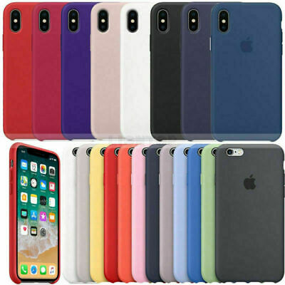 Original Genuine Silicone Case Cover For Apple iPhone 6 6s 7 8 Plus X XR XS Max
