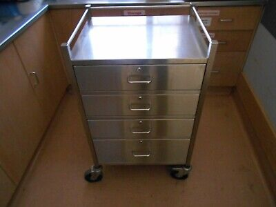 Stainless Steel Wound Management Trolley - Lockable