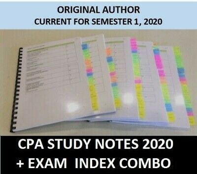 CPA Financial Reporting HD study notes + Exam index COMBO 2020 [PDF + EXCEL]