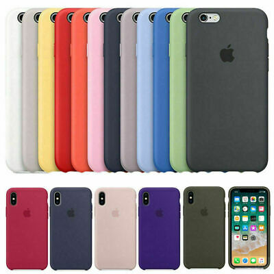 Original Genuine Soft Silicone Case Cover For Apple iPhone X XR XS Max 7 8 Plus
