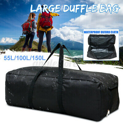 Duffle Bag Oxford Foldable Large Capacity Outdoor Travel Black Driving