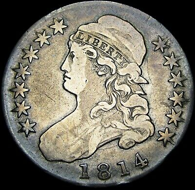 1814 Capped Bust Half Dollar   ---- Type Coin RARE  ----  #W631