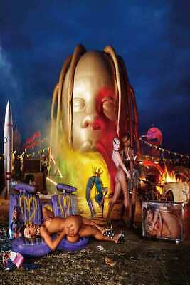 B39 Travis Scott Astroworld Day Night Cover 2018 Album Poster  Canvas 24x36in