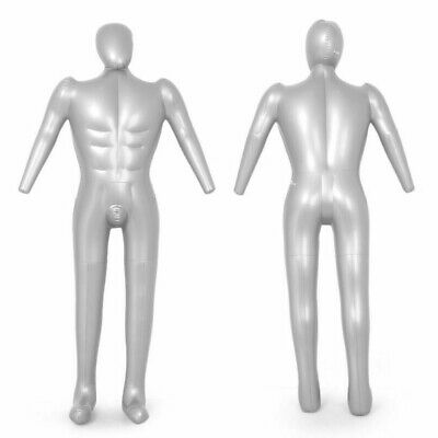Durable Mannequin Male Full Body Model Torso PVC Inflatable Clothes Display 1PCS