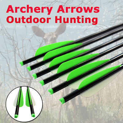 """6X 18/20"""" Crossbow Bolts Changeable Screw Point For Archery Hunting Shooting"""