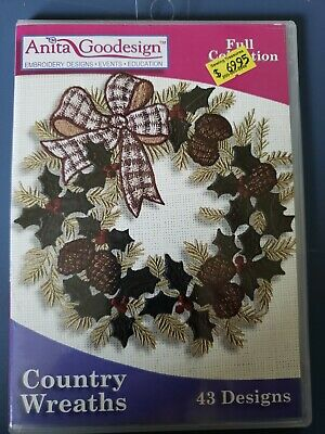 Country Wreaths Machine Embroidery Anitagoodesigns