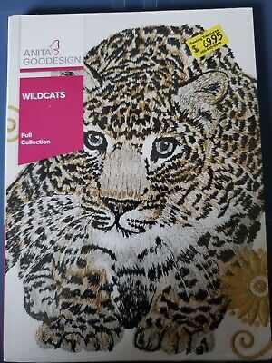 Wild Cats Machine Embroidery Anitagoodesigns