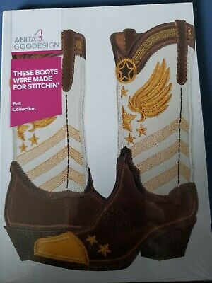 These boots were made for stitchin Machine Embroidery Anitagoodesigns