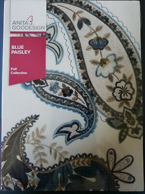 Blue Paisley Machine Embroidery Anitagoodesigns