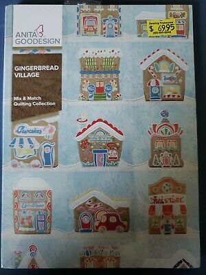 Gingerbread Village Machine Embroidery Anitagoodesigns