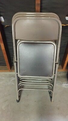 Used EMMA + OLIVER 3 Pack Commercial Party Events Steel Metal Folding Chair