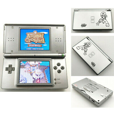 Refurbished - Silver Mario Nintendo DS Lite NDSL Video Game Console With Charger