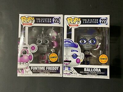 Funko Pop Games FNAF Lot — 225 Funtime Freddy Chase & 227 Ballora Chase