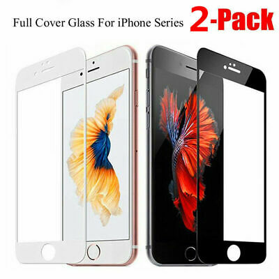 3D Full Coverage 9H Tempered Glass Screen Protector Film For iPhone 7 6S 8 Plus