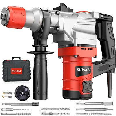1500W Electric Rotary Hammer Drill Demolition Breaker SDS Plus Bit Chisel Set UK