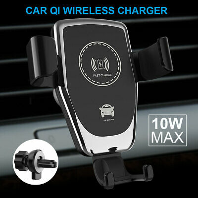 Automatic Clamping Qi Wireless Car Charger Fast Charging Mount Holder For Phone