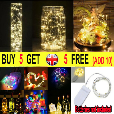 20 30 100 LED Battery Micro Rice Wire Copper Fairy String Lights Party Christmas